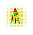 Rocket icon comics style vector image vector image