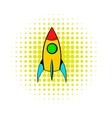 Rocket icon comics style vector image