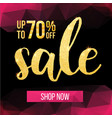 sale banner design template modern vector image