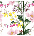 seamless background from a flowers ornament vector image vector image
