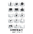 set icons and web downloader vector image vector image