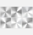 set of silvery conic gradients vector image vector image