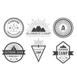 set of vintage summer camp badges and other vector image