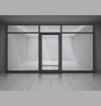 showcase store windows realistic composition vector image
