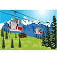 ski lift cable booth or car vector image vector image