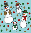 snowman family seamless vector image