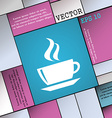 tea coffee icon sign Modern flat style for your vector image