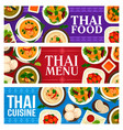 thai food banners thailand cuisine dishes meals vector image vector image