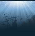 under water world background vector image