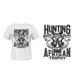warthog boar mascot t-shirt print vector image