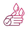 wash hands prevent spread covid-19 gradient vector image