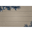 Winter wooden background vector image vector image