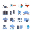 Data Processing Icons vector image