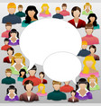 The concept of womens community or forum Social vector image