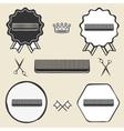 Comb hair brush vintage symbol emblem label vector image