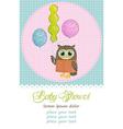 Happy birthday owl vector image