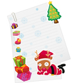 reindeer and paper note vector image
