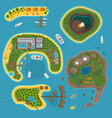 Island top view vector image
