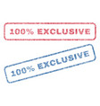 100 percent exclusive textile stamps vector image vector image