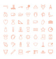49 drawing icons vector image vector image