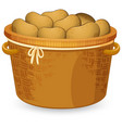 a basket of potato vector image