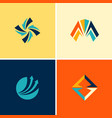 abstract arrow logos vector image vector image