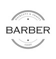 barber vintage sign stamp vector image