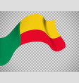 benin flag on transparent background vector image vector image