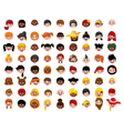 big Set of cartoon children head vector image vector image