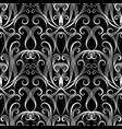 black and white vintage damask seamless pattern vector image vector image