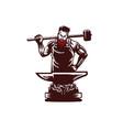 blacksmith vintage style vector image