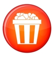 Box of popcorn icon flat style vector image vector image