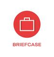briefcase round flat icon portfolio symbol vector image vector image