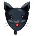 cartoon black cat on white background vector image