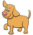 cartoon funny puppy animal character vector image vector image
