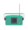 center fm radio icon flat style vector image vector image