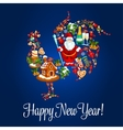 Chinese New Year rooster greeting card vector image vector image