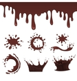 Chocolate splash set vector image