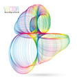 colorful abstract wireframe vector image vector image