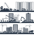 Construction Composition Black vector image vector image