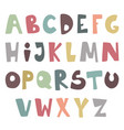 cute childish simple latin font colorful vector image