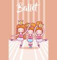 cute girls ballet dancers vector image vector image