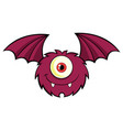 cute one eyed monster cartoon character vector image vector image
