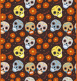 day of the dead holiday in mexico seamless pattern vector image vector image