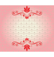 Elegant background with ornaments vector image