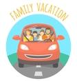 family vacation trip car vector image