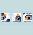 fashion social media post design template vector image vector image