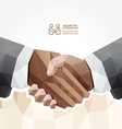 Geometric Modern handshake Design vector image vector image