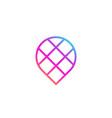 geotag or location pin logo icon design vector image vector image
