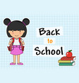 girl with backpack vector image vector image